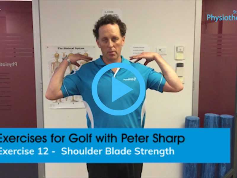 Golf exercises shoulder blade strength